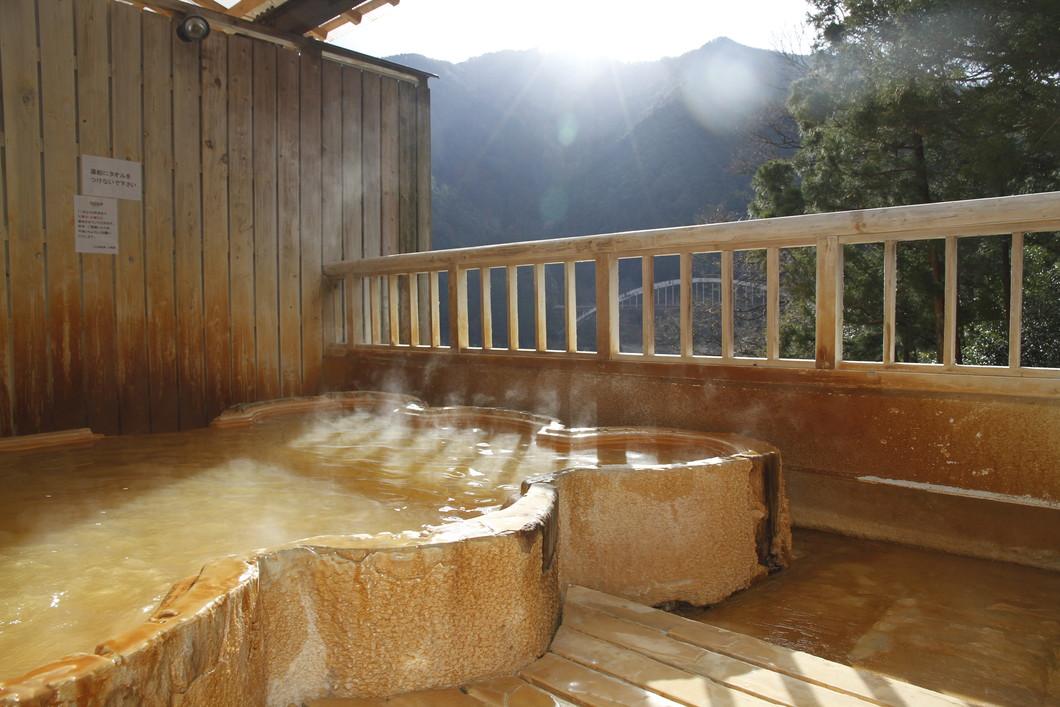 温泉でのんびり