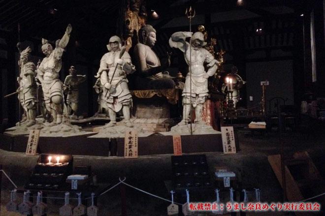 新薬師寺 国宝の本堂で早朝特別拝観・通常非公開の香薬師堂特別公開