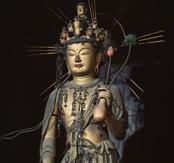 春と秋に特別公開される、 十一面観音像(写真/海龍王寺)