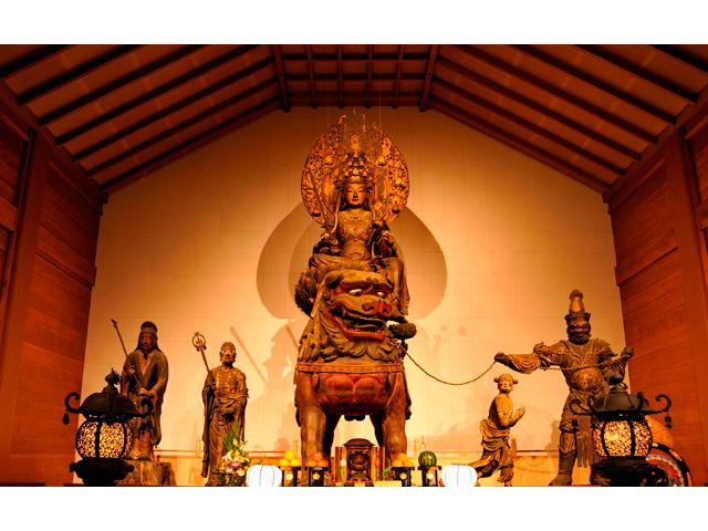 安倍文殊院「国宝・文殊菩薩像」特別拝観とお抹茶