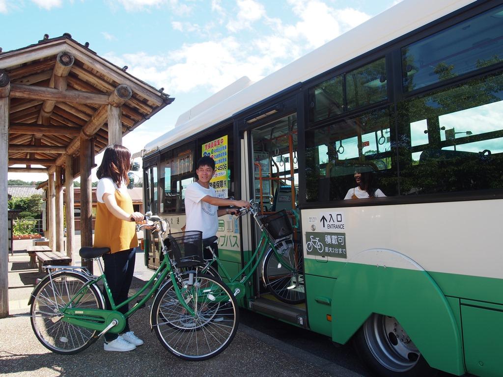 明日香地域で サイクルバス運行
