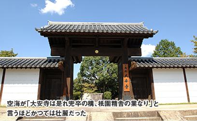 空海が「大安寺は是れ兜卒の構、祇園精舎の業なり」と言うほどかつては壮麗だった