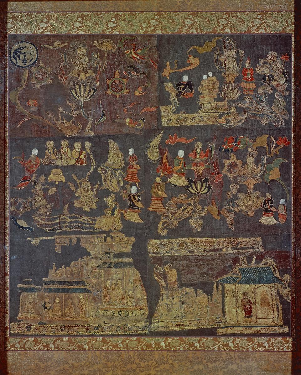 天寿国曼荼羅繡帳(複製)