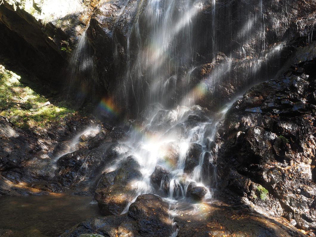 滝つぼの虹