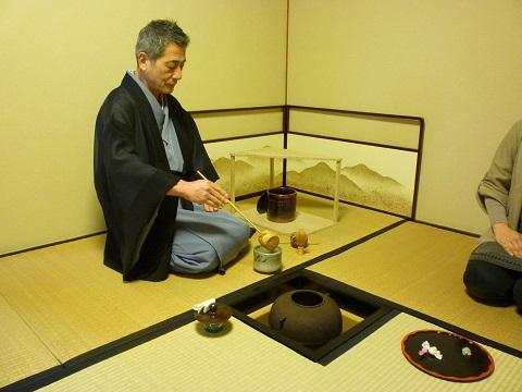 本格的な茶室で茶会の体験