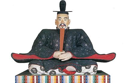 平成元年に造られた秀長の木像
