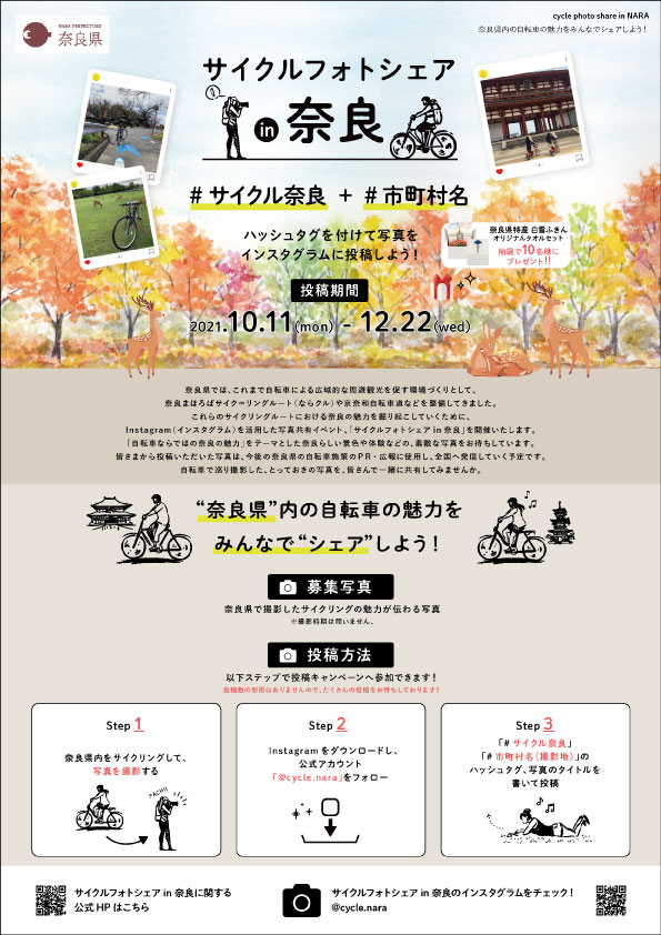 サイクルフォトシェア in 奈良