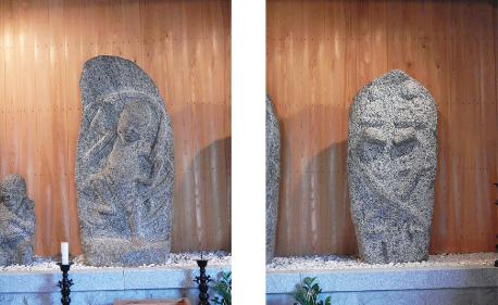 左:蔵王権現 右:双身(神)龍神像