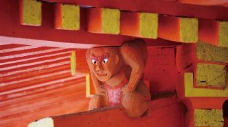 岩船寺三重塔の隅鬼